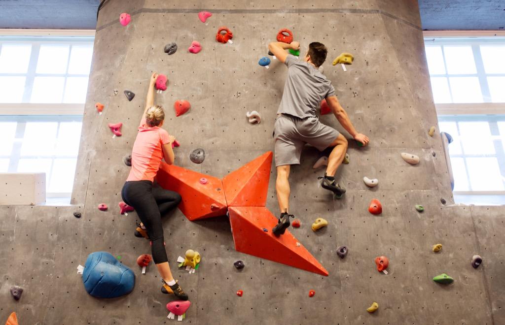 Rock climbing, a great non-cliché second date. second date ideas