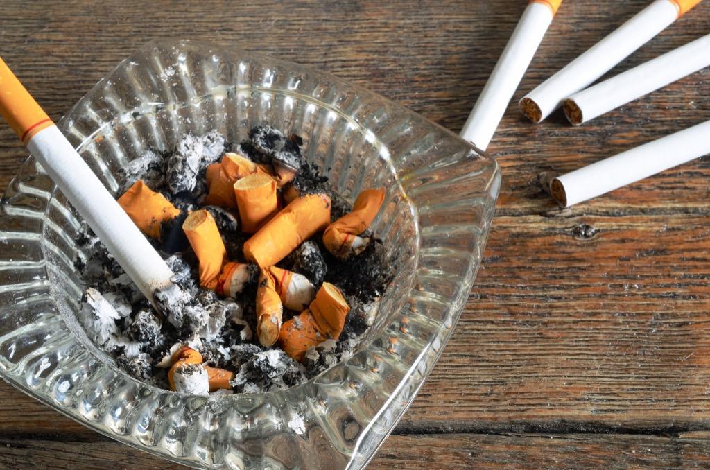 cigarettes in ashtray home problems