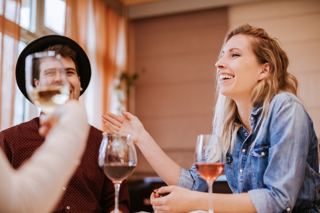 benefits of wine friends cheers