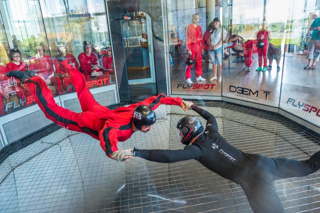 indoor skydiving, unusual gifts