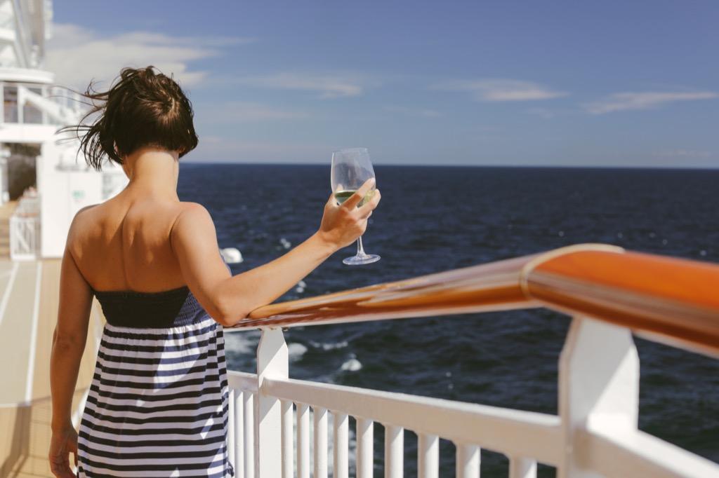 benefits of wine woman on yacht