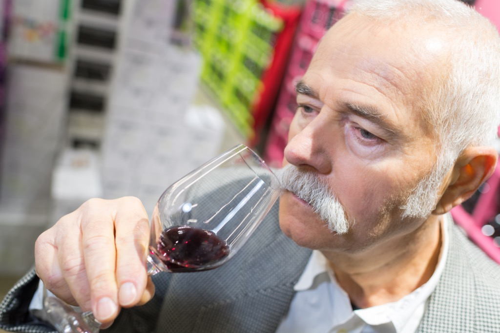 older man drinking wine 30 Things That Are Harder Than Getting into Harvard