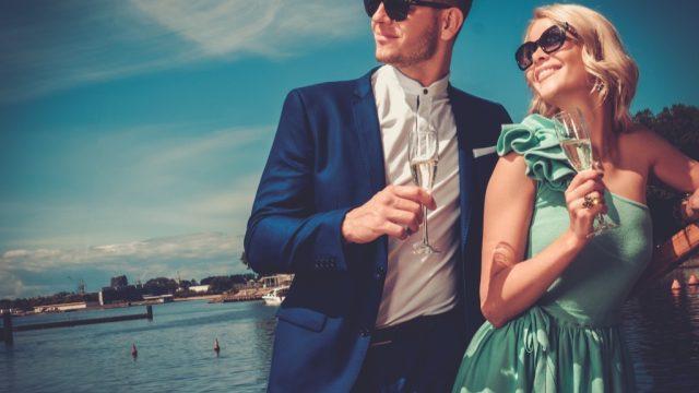 wealthy successful couple face shape man woman
