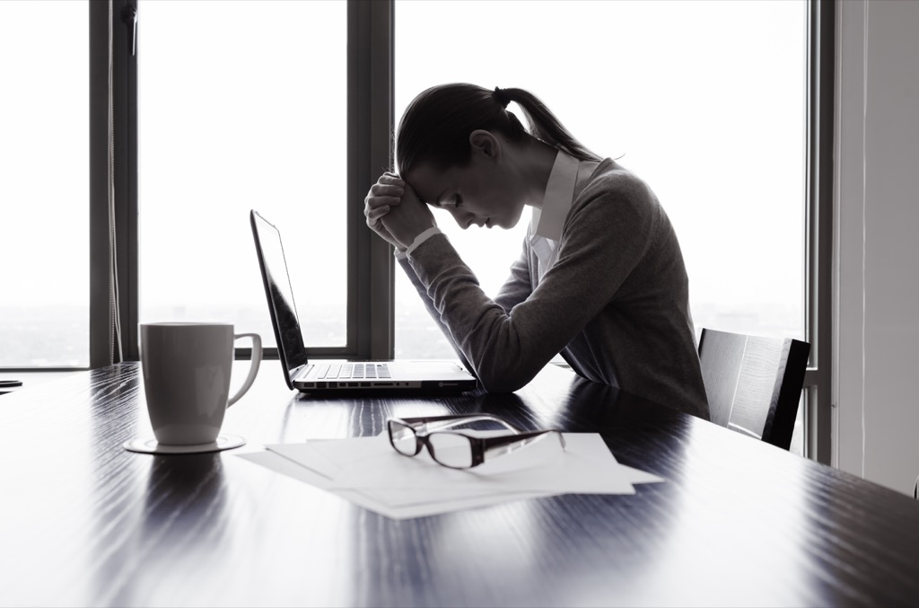 promotion woman stressed