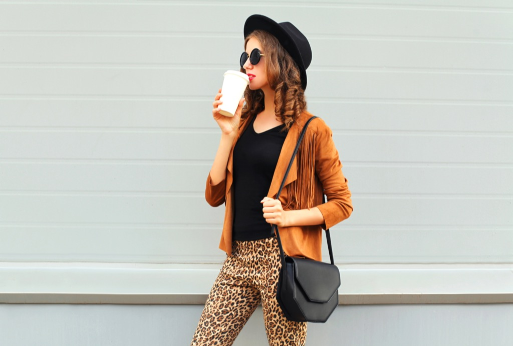 woman wearing leopard print dress code