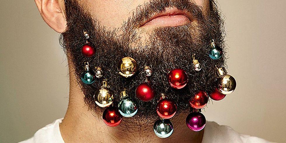 Beard baubles, bad Christmas trend