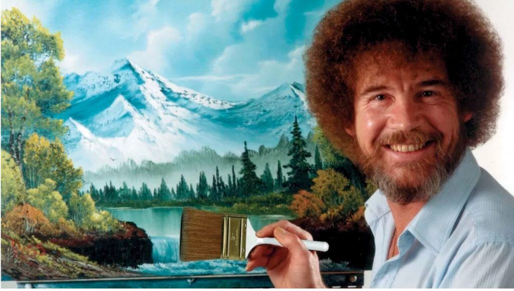 Bob Ross, whom you can channel to be happier.