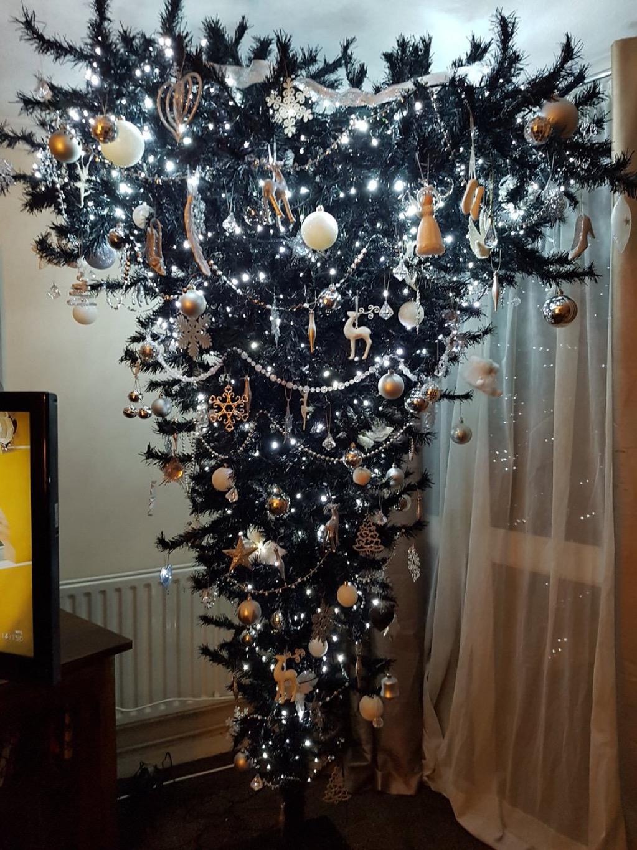 Upside down Christmas tree