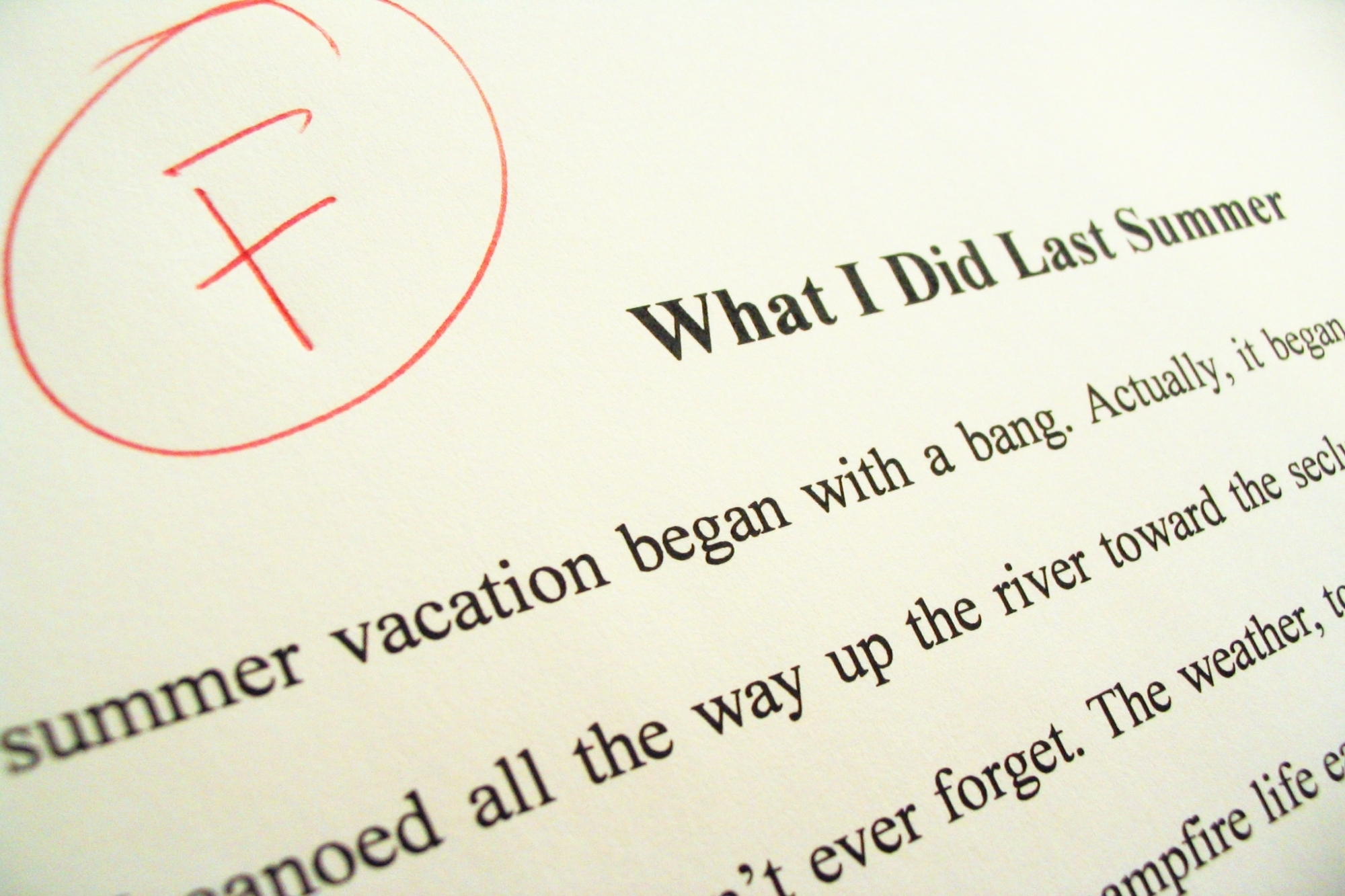 Failed term paper, things you should never say to a teacher
