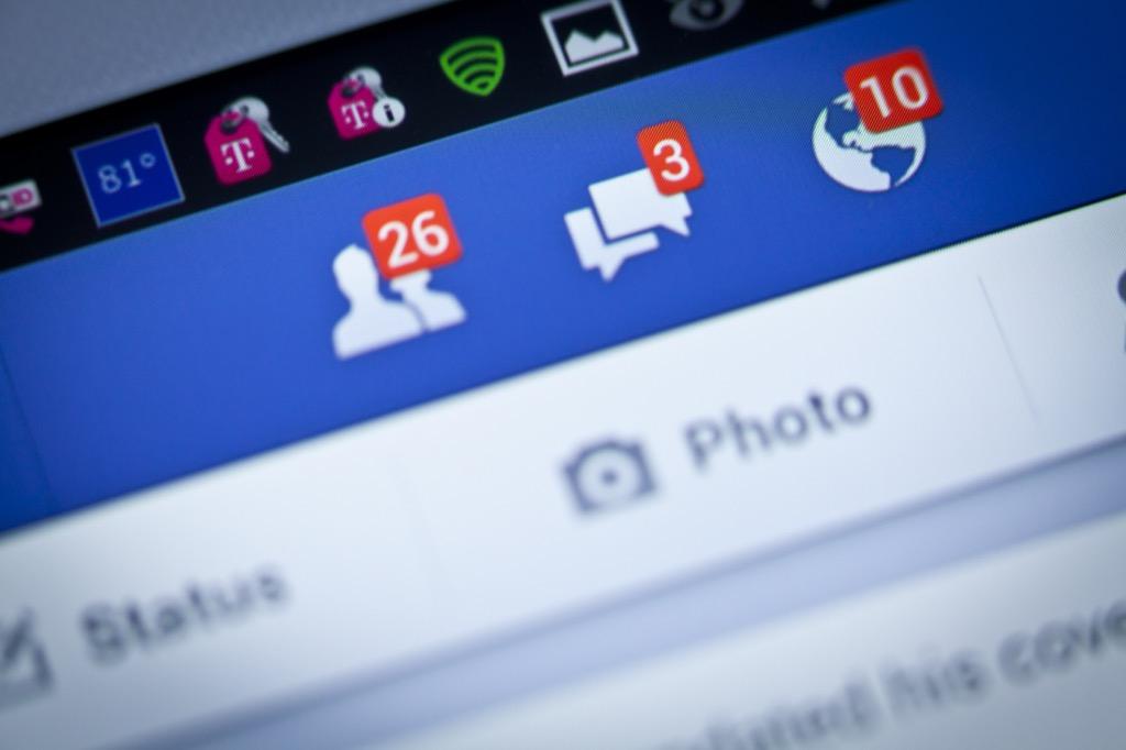 Facebook friend request, reach a customer service rep