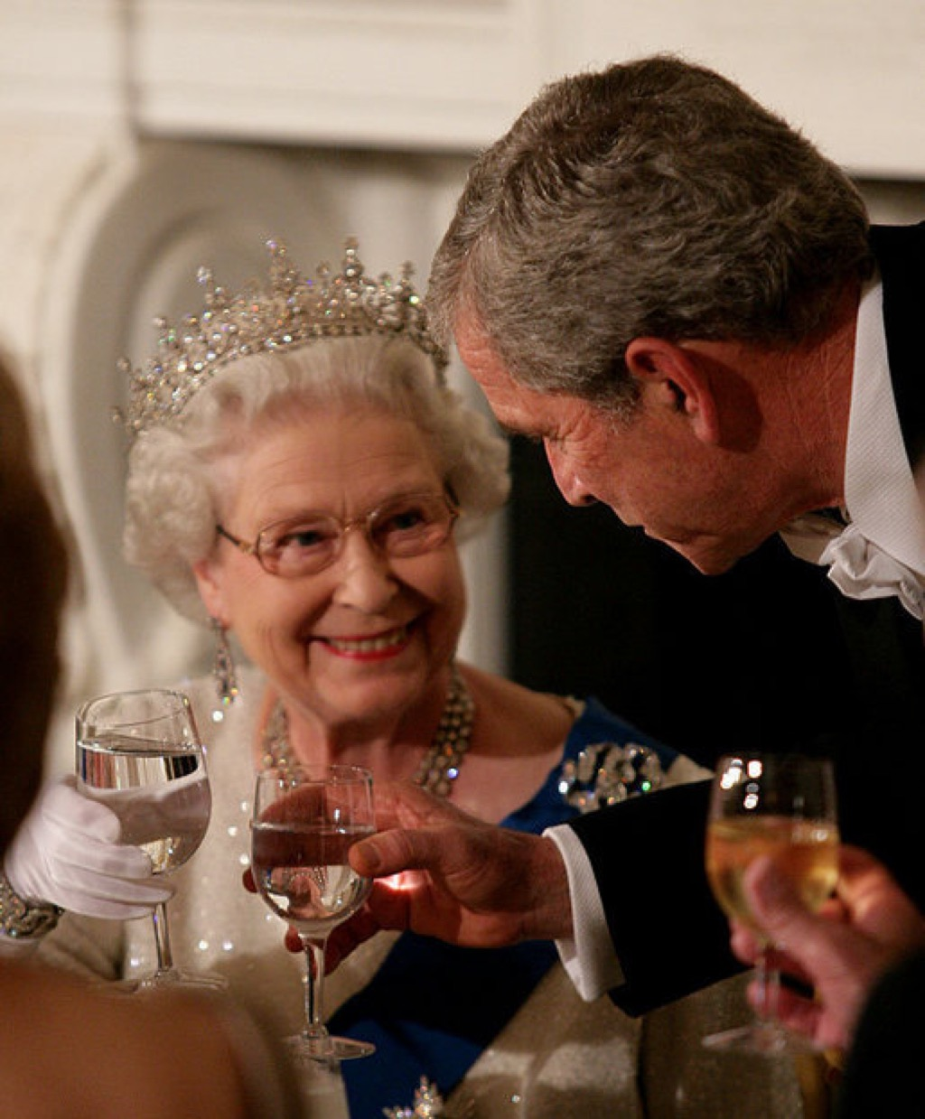 Queen Elizabeth only wears her tiara at night