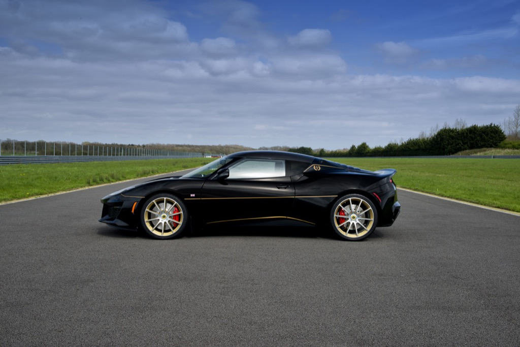 The Lotus Evora Sport 410 is an instantly collectible new car