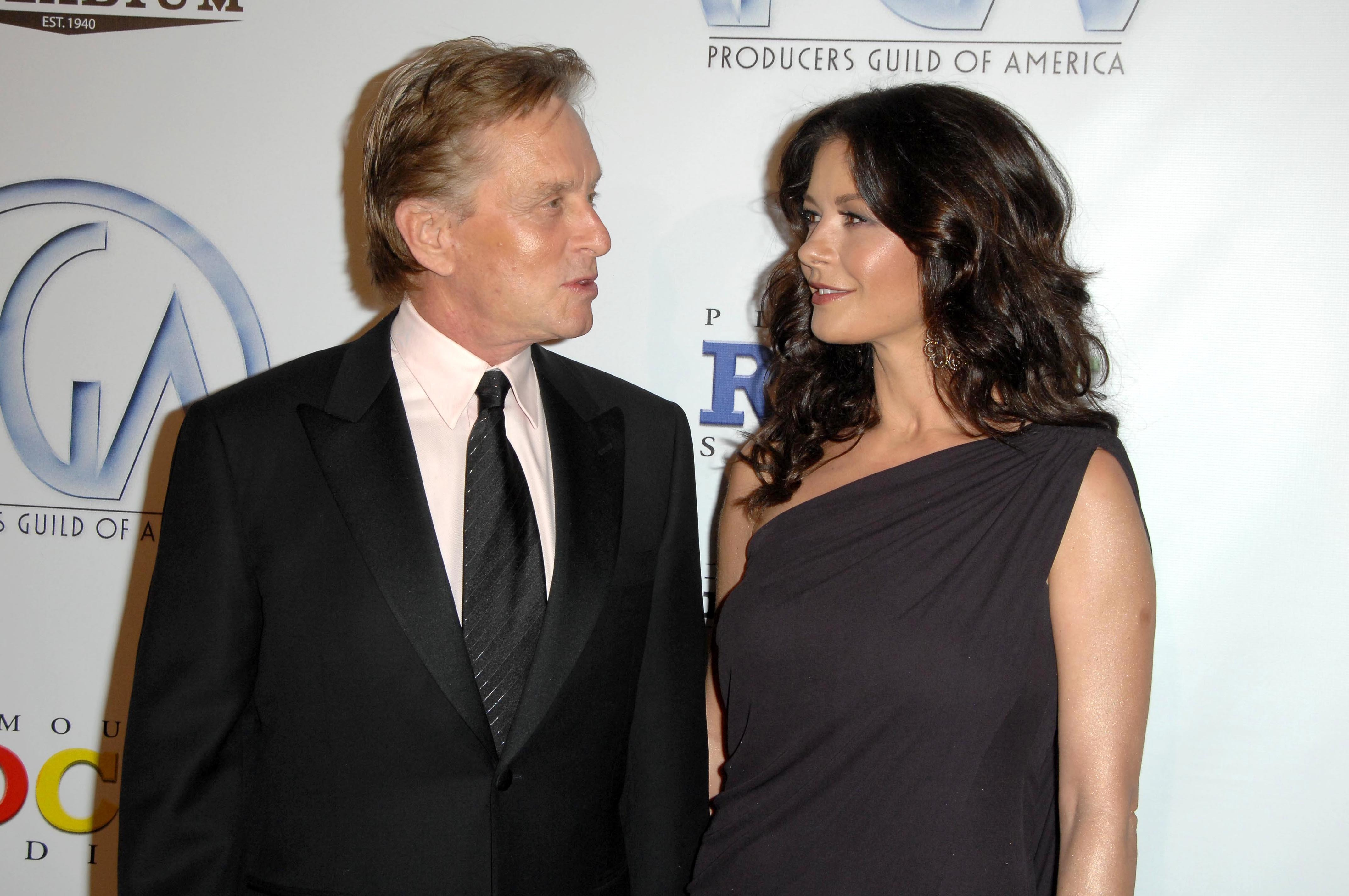 Michael Douglas and Catherine Zeta-Jones relationships with big age difference