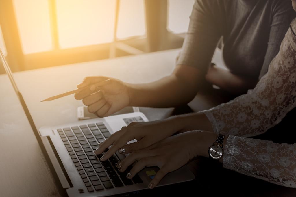 Entrepreneurs working on a laptop