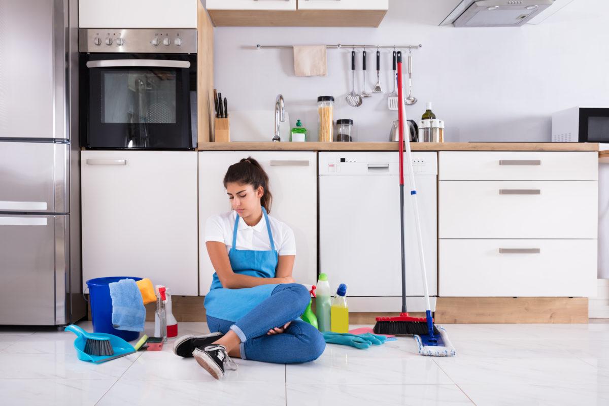 housekeeper secrets Housekeeper sitting on floor