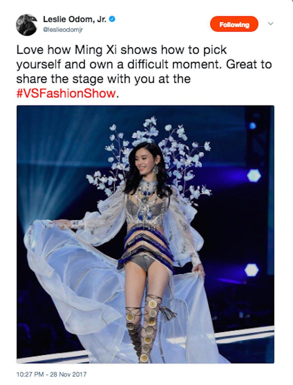 Xing Mi in the Victorias Secret Fashion Show