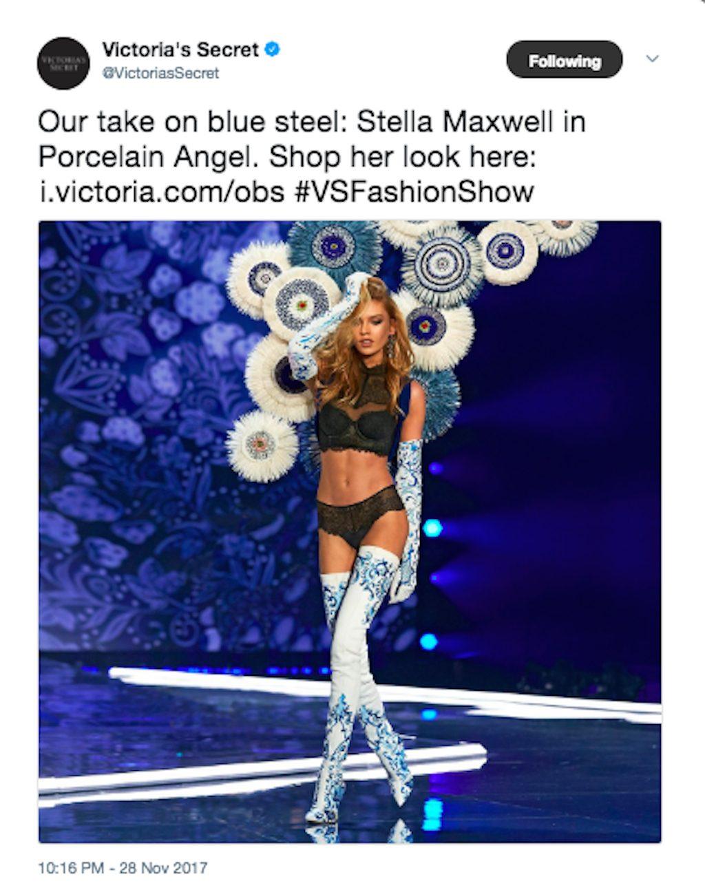 Stella Maxwell in the Victorias Secret Fashion Show