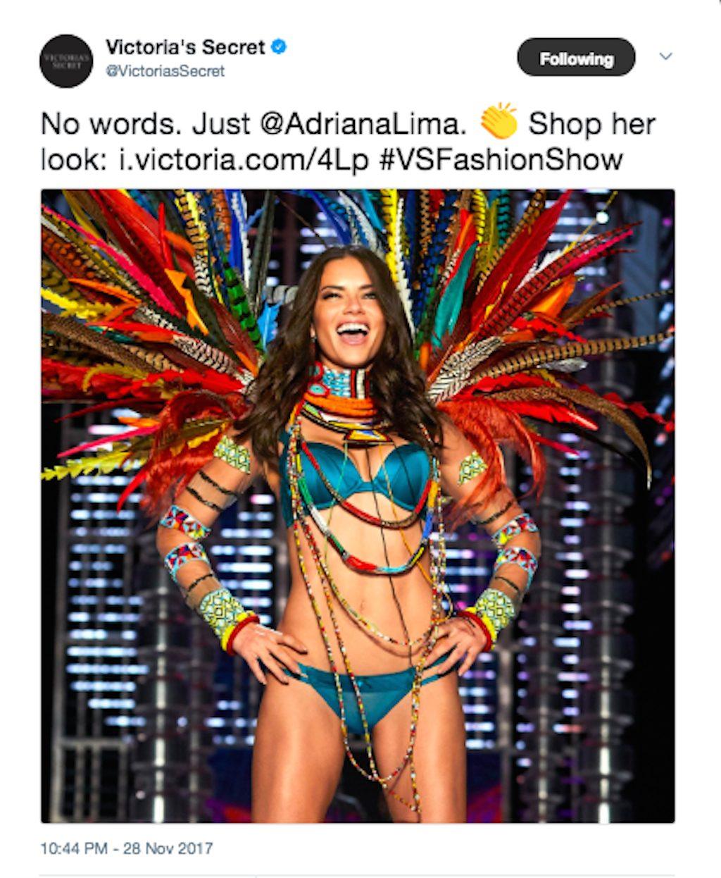 adriana lima in the vs fashion show