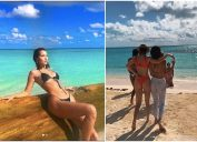 Bella Hadid on vacation with Kendall Jenner in the Bahamas