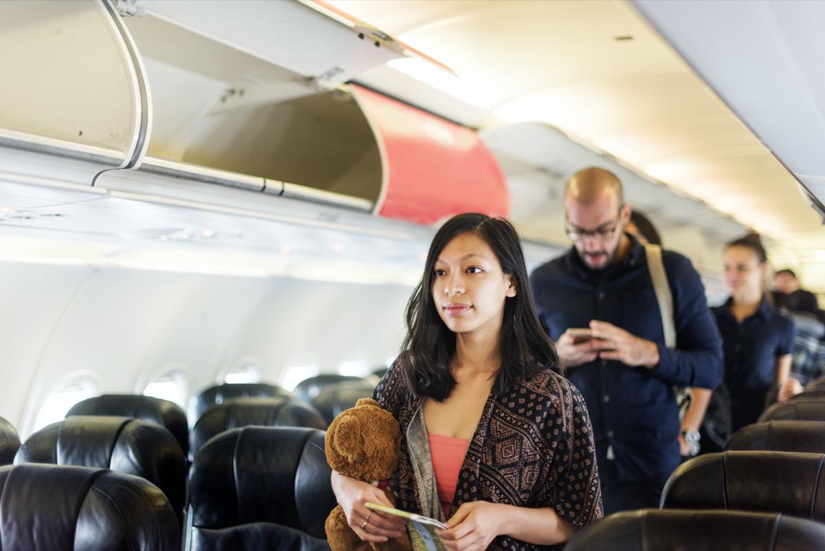 people boarding the plane