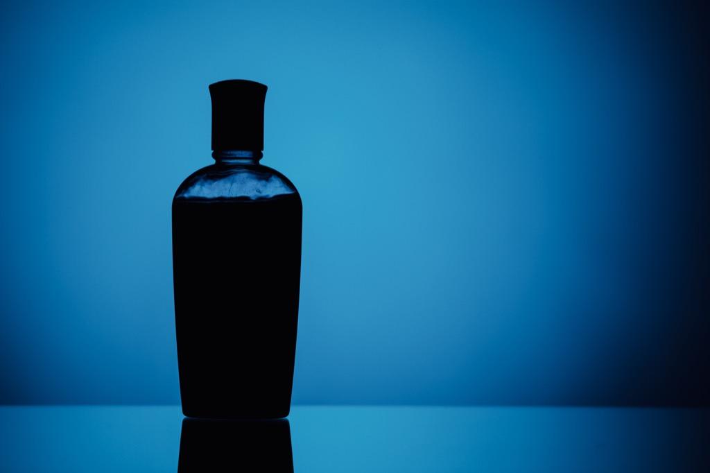 Bottle of hair gel