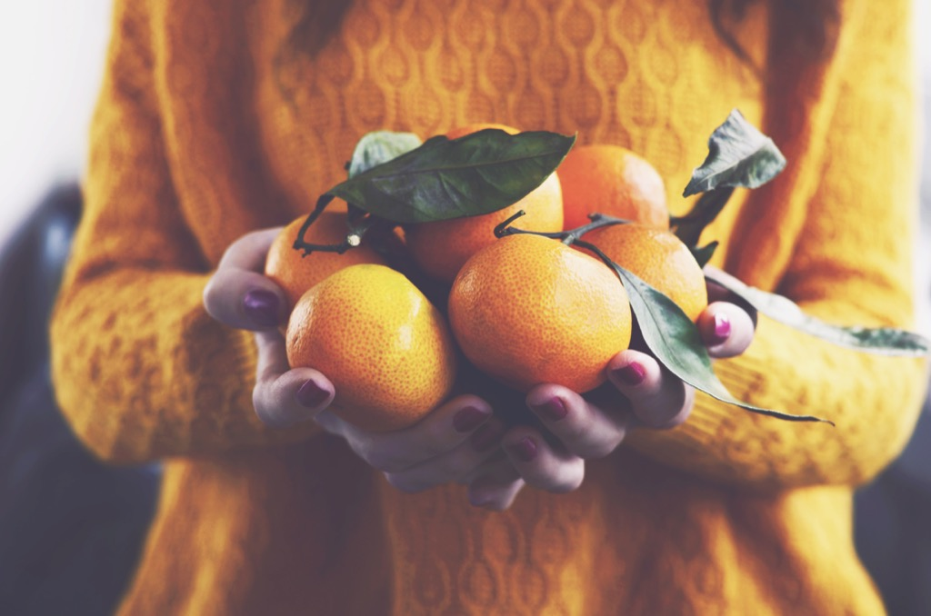 Clementines, which you can eat to be instantly happy.