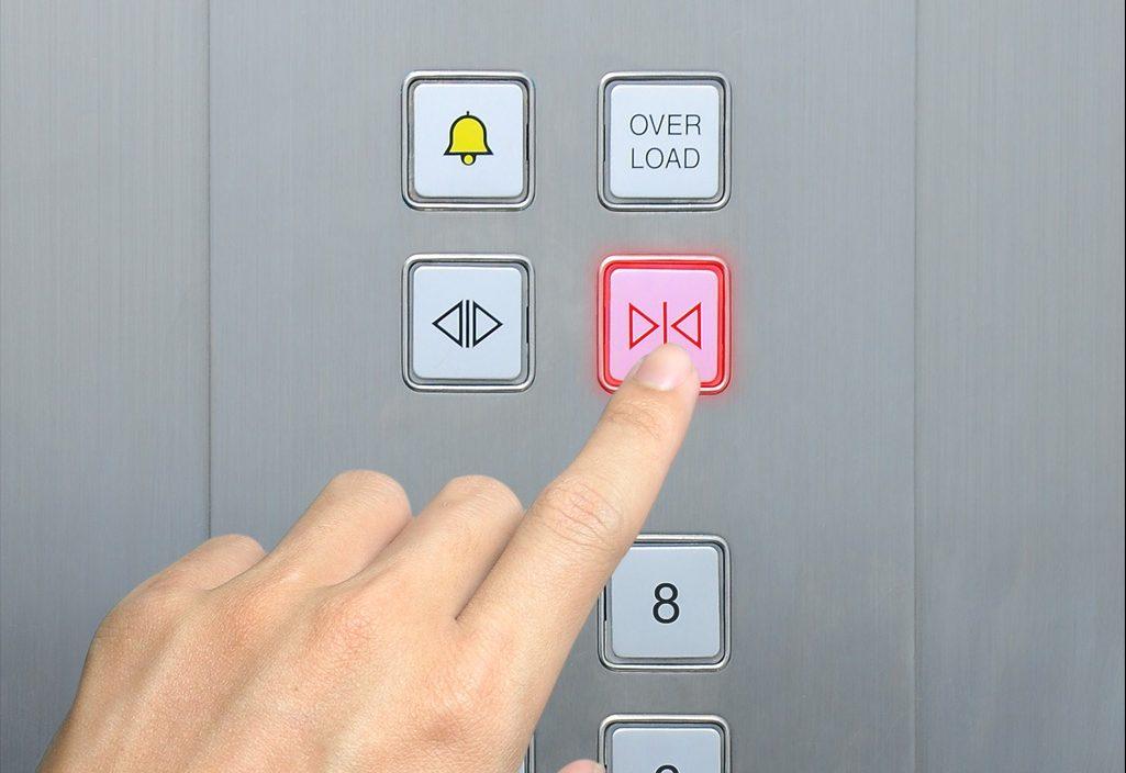 elevator etiquette pressing the button
