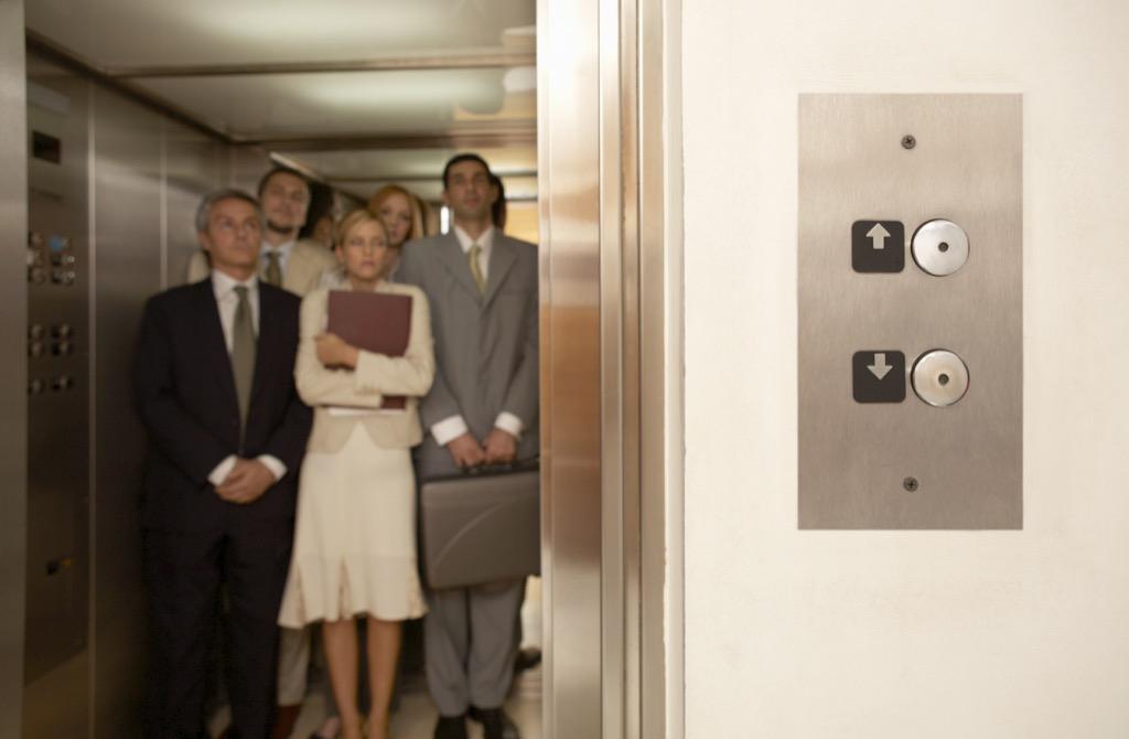 elevator etiquette stalling