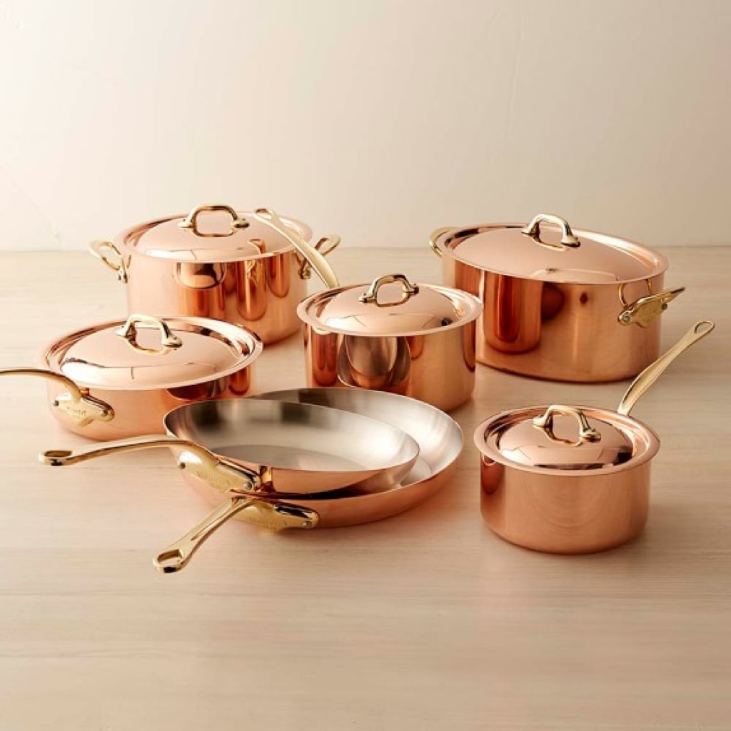 Copper pots and pans, a stylish home upgrade.