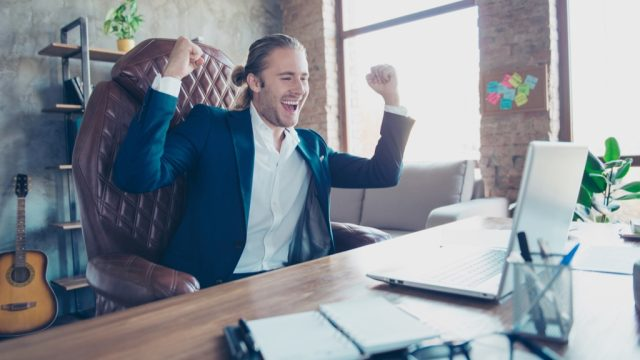 Man celebrated after he gets promoted
