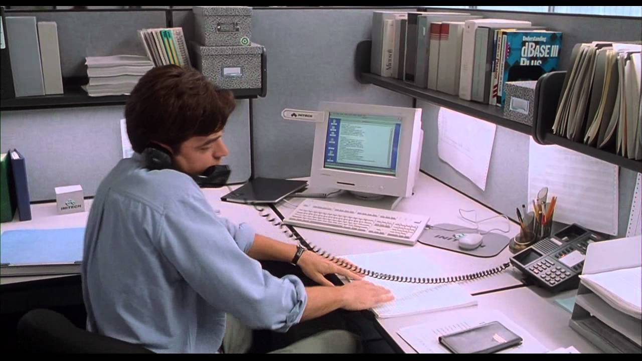 scene from office space film