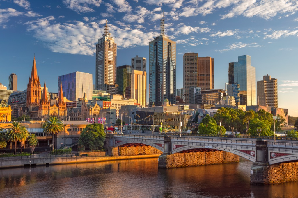 Melbourne, Australia Cleanest Cities in the world