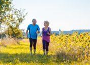 Older Couple Walking Outside {Secrets to a Long Life}