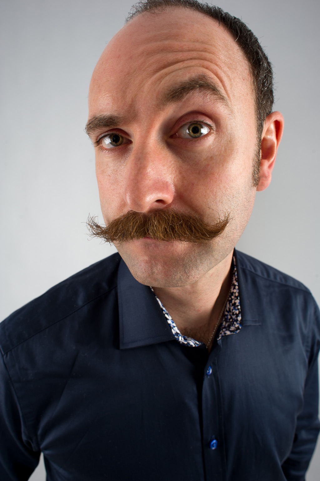 no man should have ironic mustache at work
