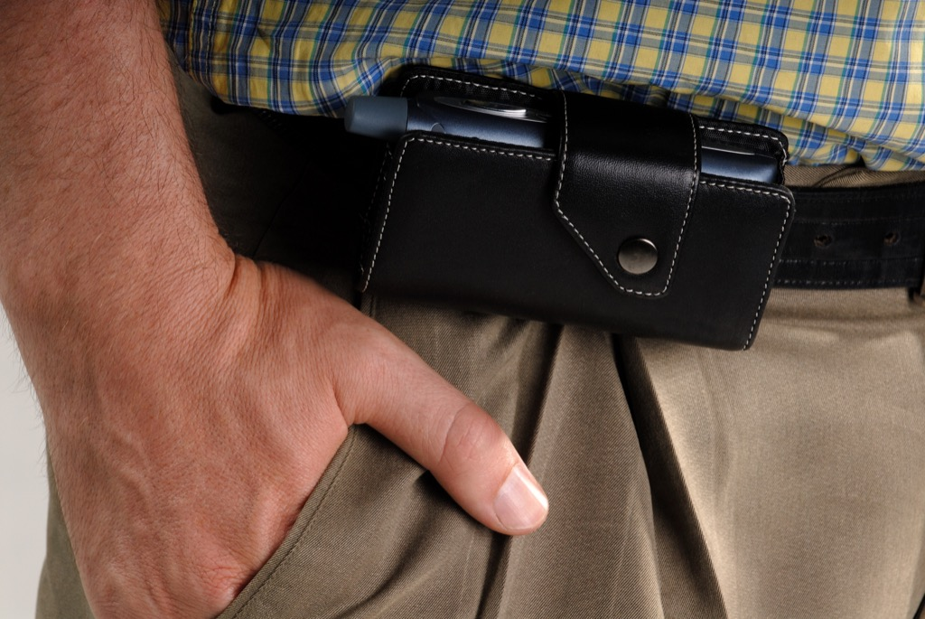 no man should wear a cell phone clip at work