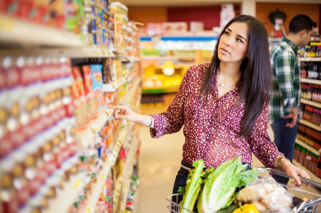 Woman Grocery Shopping Mistakes