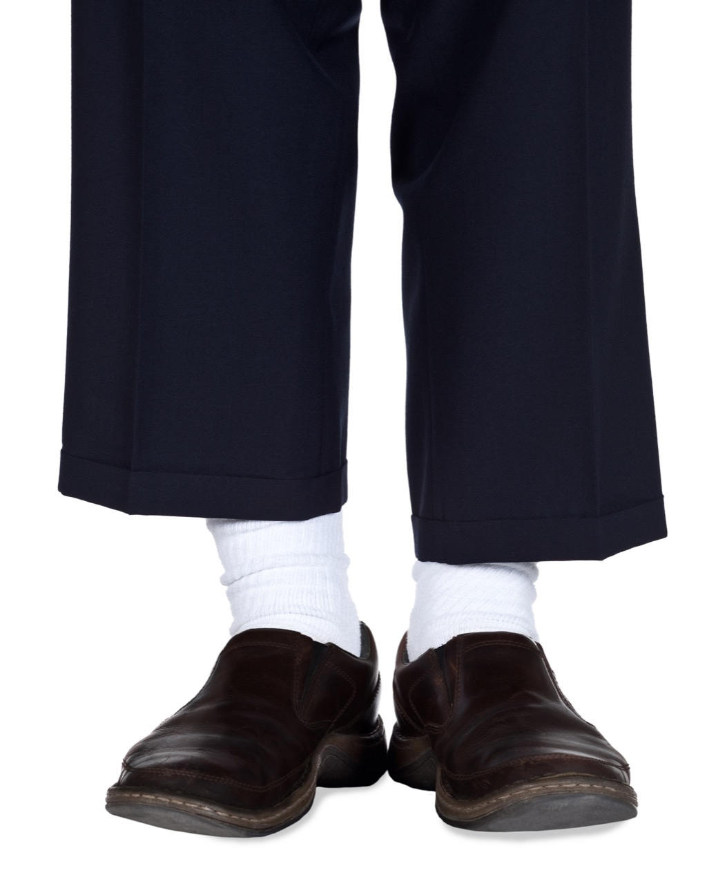 white socks and dress pants are something no man should wear to work