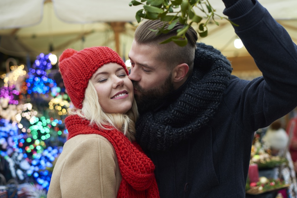 don't take out the mistletoe at the holiday party