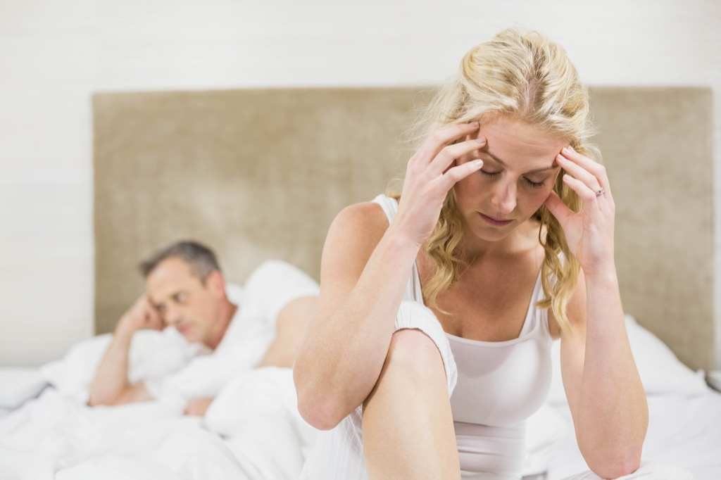 couple fighting regret marrying younger woman