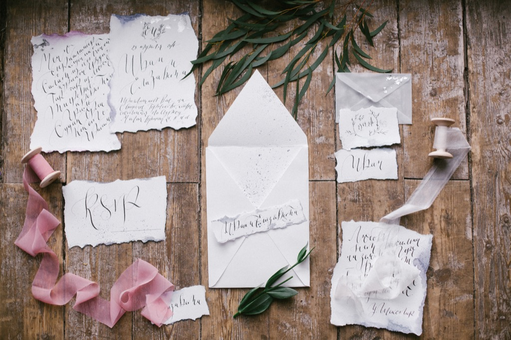 wedding invitations 20 Old-Fashioned Wedding Traditions That Nobody Does Anymore