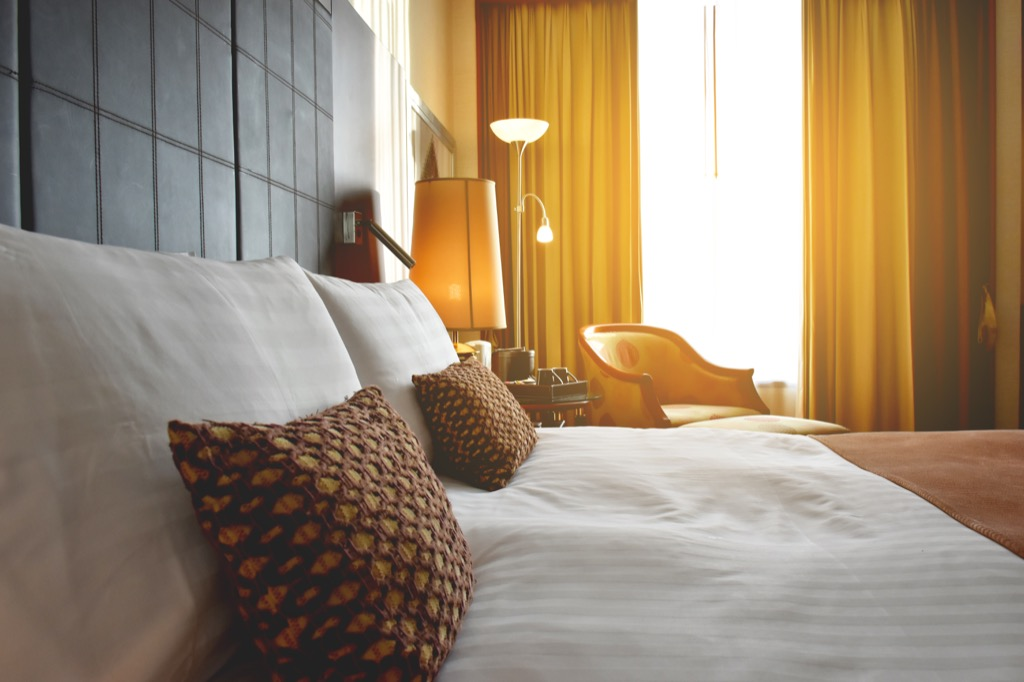 hotel room, date night ideas