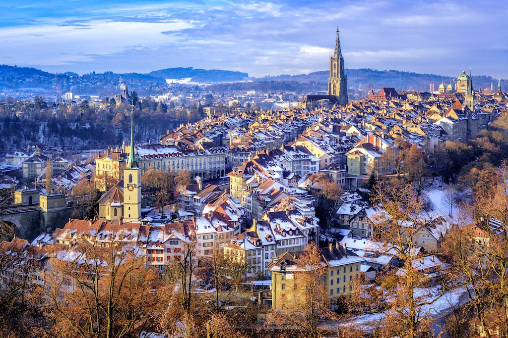 bern, switzerland in the winter