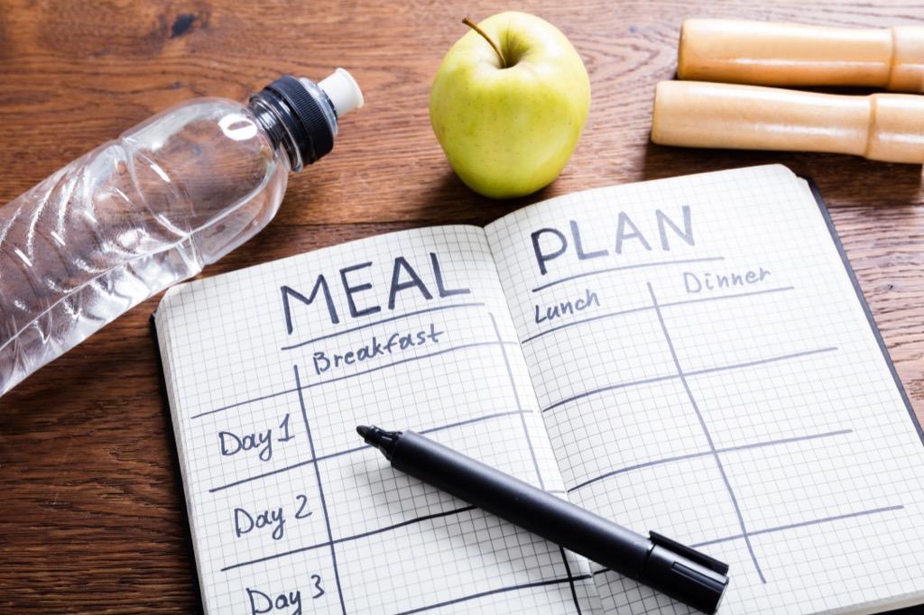 meal plan notebook, weight loss motivation