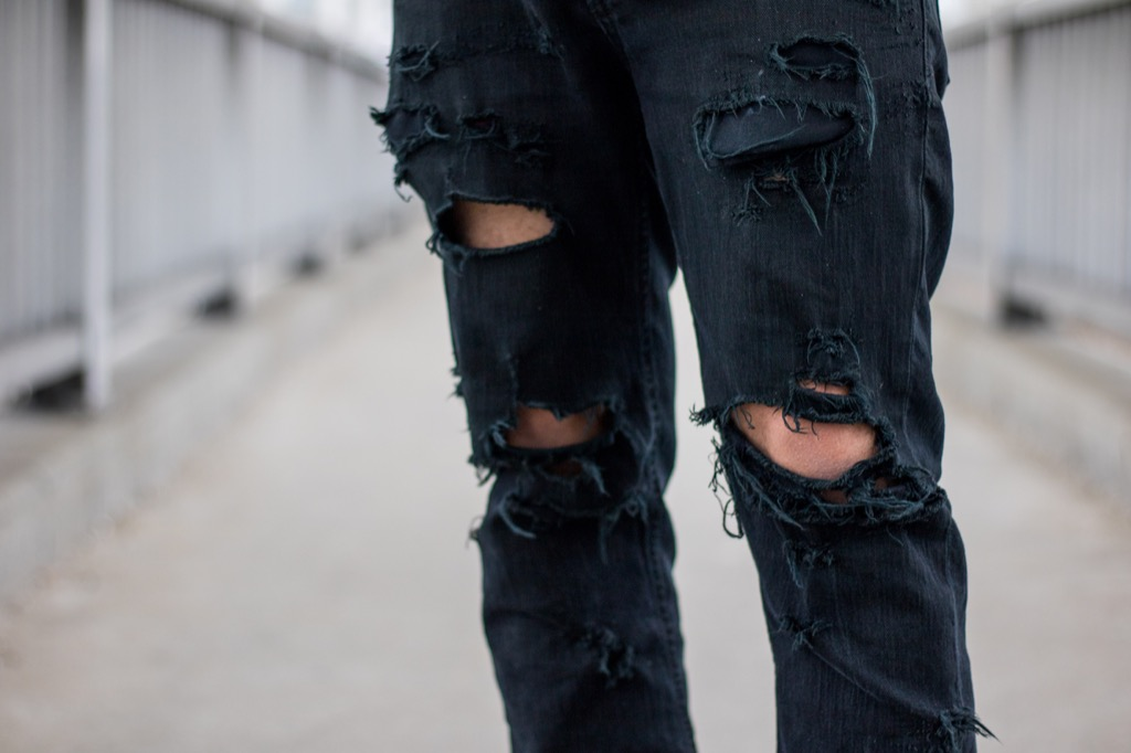 ripped jeans are not appropriate for your 50s