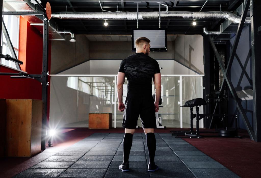 no man should wear workout gear to work