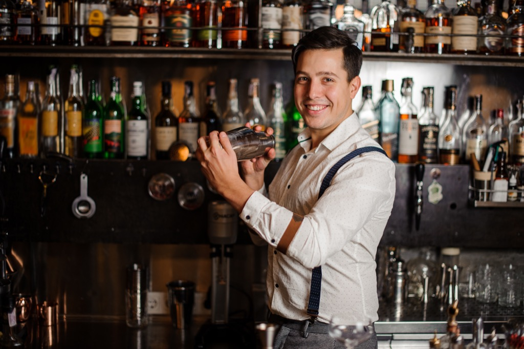 bartender jobs with high divorce rates