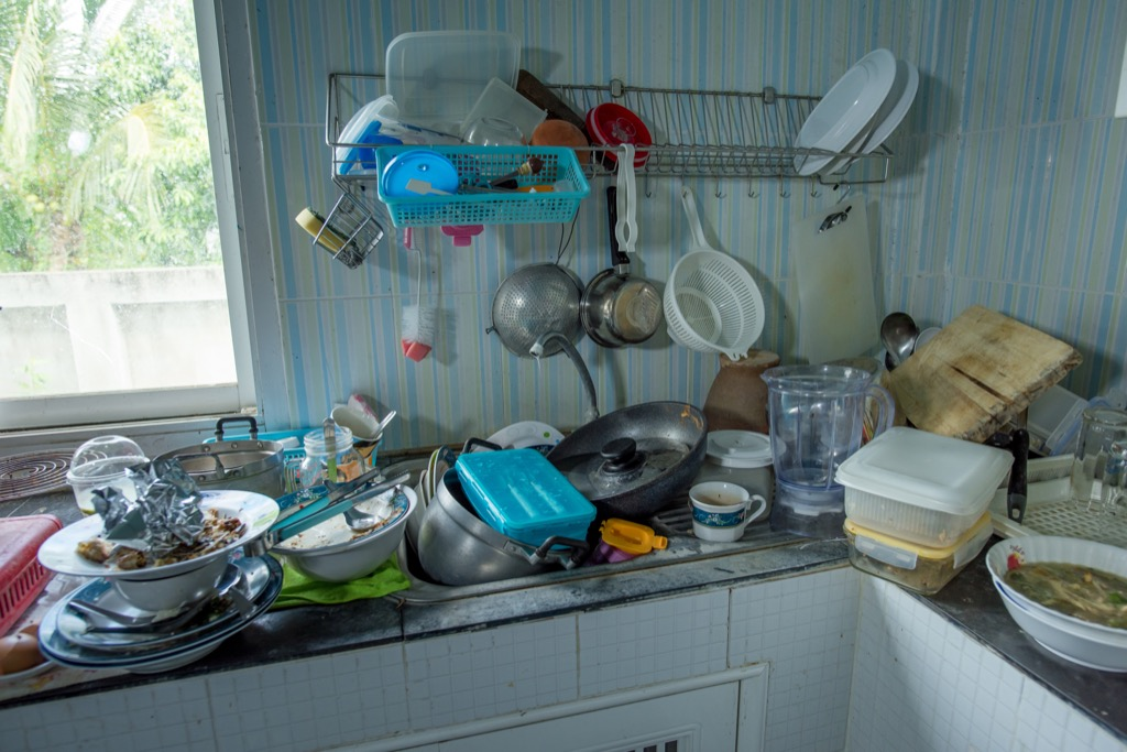 procrastination can lead to cluttered spaces