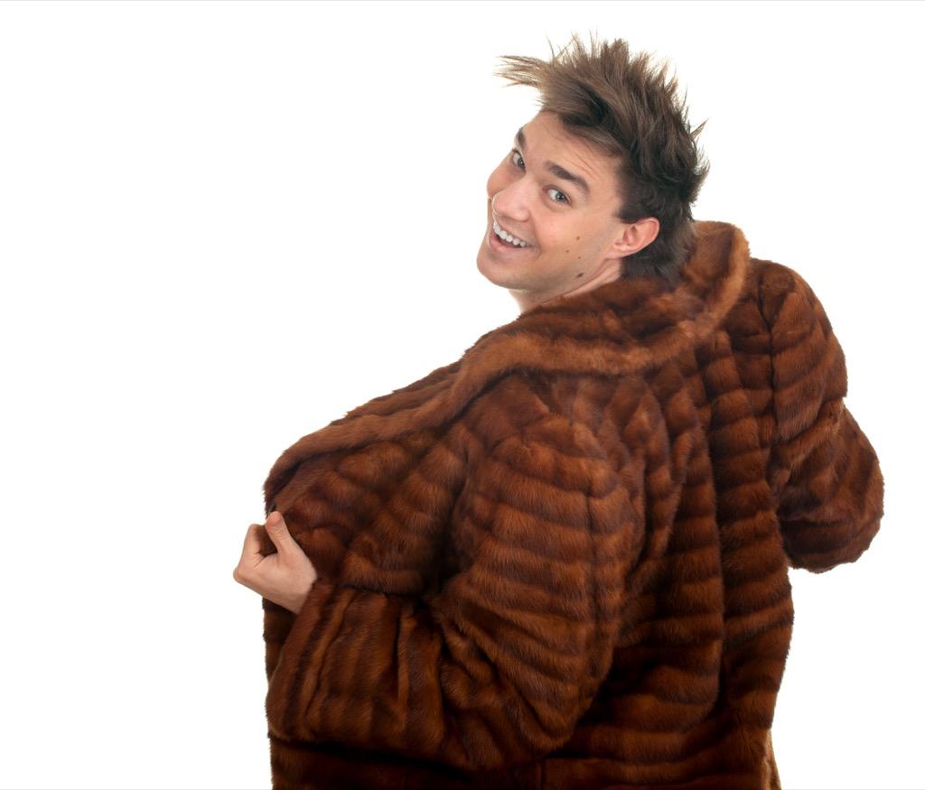 no man should wear a fur coat to work