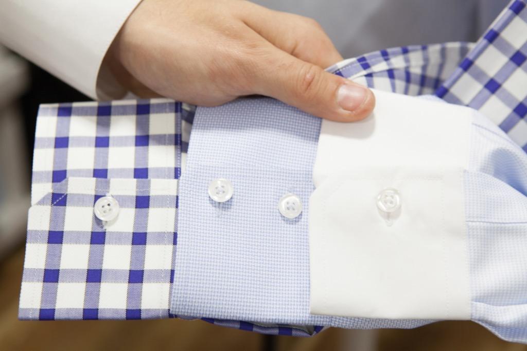 no man should wear contrast cuff shirts to work
