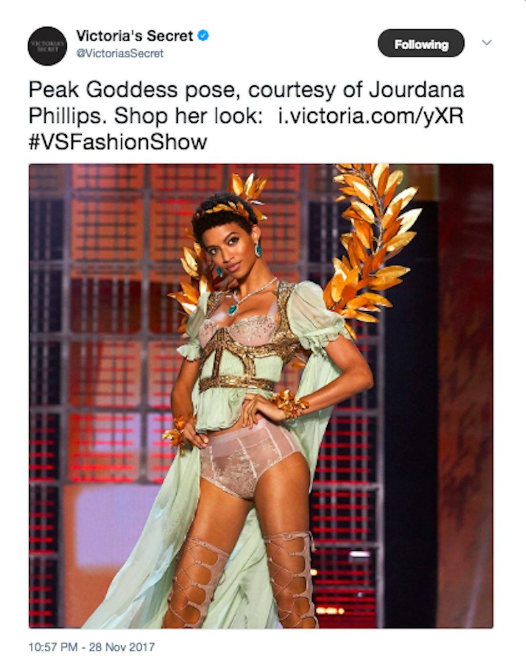 Jourdana Phillips in the Victorias Secret Fashion Show